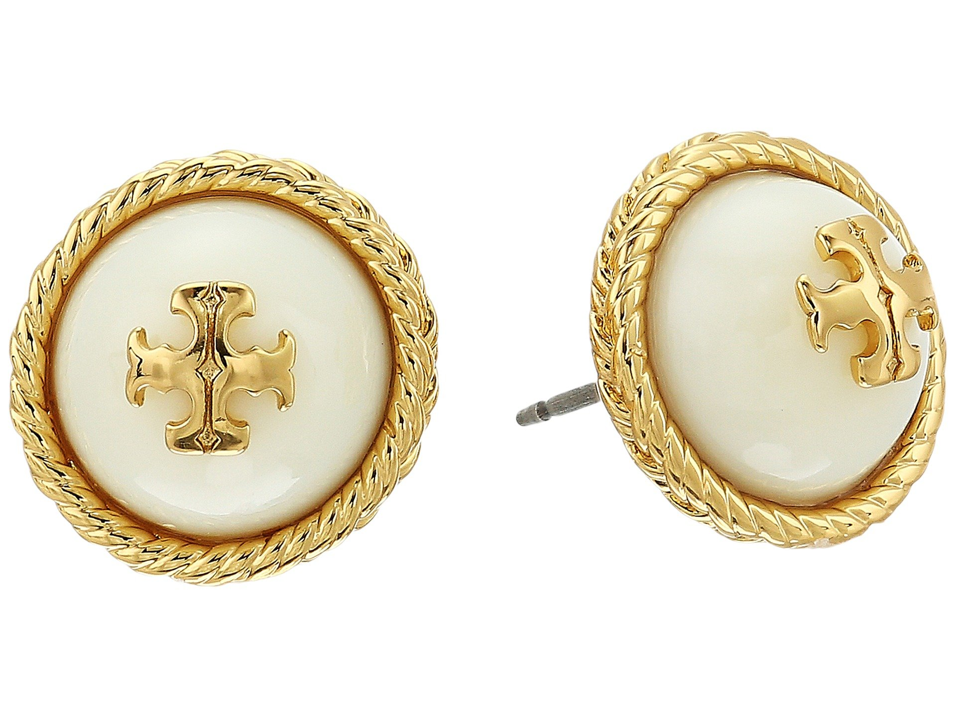 Tory burch rope pearl stud earrings at for Tory burch jewelry amazon