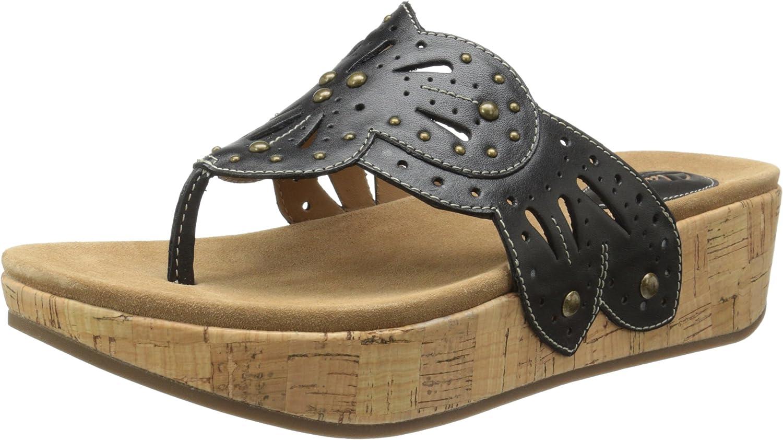 Clarks Women's Palima Palm Wedge Sandal