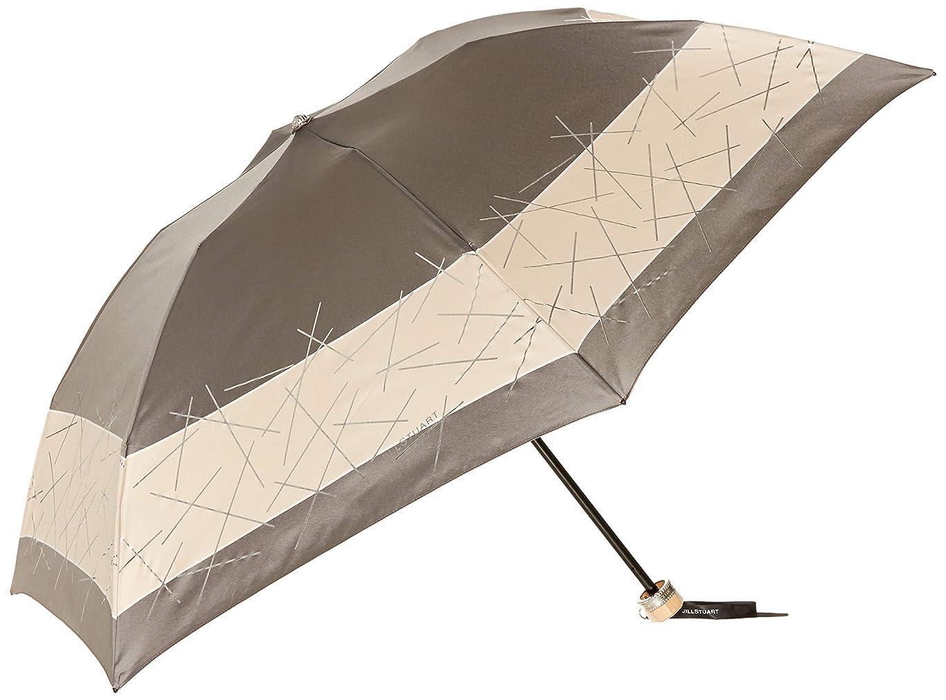 通知するレベル囲まれた[ジルスチュアート] AURORA(オーロラ) 1JI 17736-36箔スティックプリント先染めバイカラーカーボン軽量おりたたみ傘 レディース