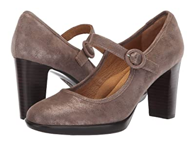 Sofft Natara (Smoke Distressed Foil Suede) High Heels