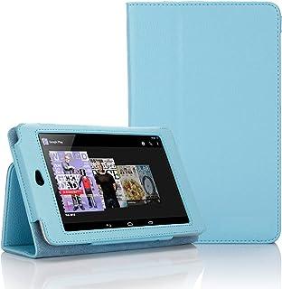Blått Executive multifunktionellt standbyfodral med inbyggd magnet för sömn/väckningsfunktion för Google Nexus 7 surfplatt...