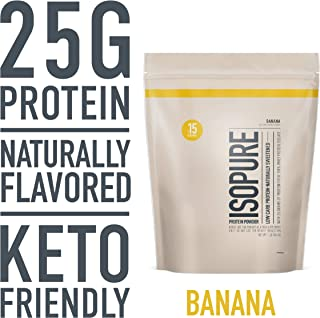 Isopure Naturally Flavored, Keto Friendly Protein Powder, 100% Whey Protein Isolate, Flavor: Natural Banana, 1 Pound