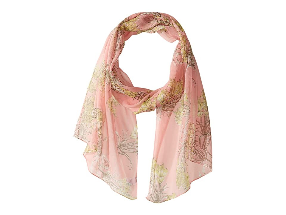 Echo Design Floral Toile Silk Scarf (Shell) Scarves, Beige