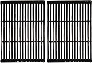 Hongso Polished Porcelain Grill Grates Replacement for Charbroil, Brinkmann 810-8401-S, 810-8532-F, 810-8534-S, Broil-Mate, Charmglow, Grill Chef, Grill Pro, Turbo Gas Grill, PCF662(Set of 2)