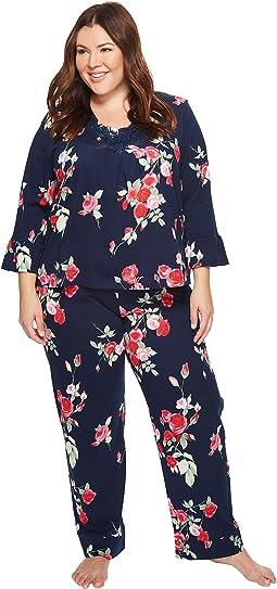Carole Hochman - Plus Size Soft Jersey Floral Pajama