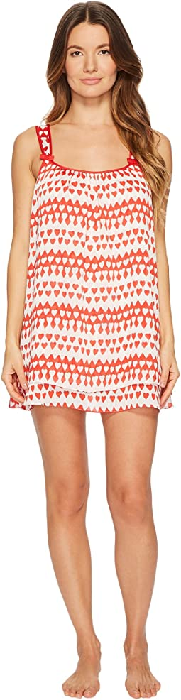Kate Spade New York - Crinkle Chiffon Two-Piece Heart Chemise Set