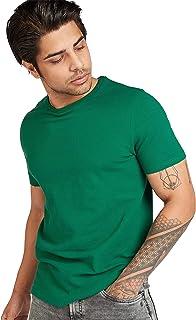 Iconic Men's 2300509 POPCORN TEE Cotton T-Shirt, Green