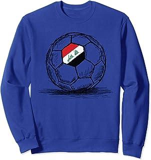 Iraq Iraqi Flag Design On Soccer Ball Artsy Football Sweatshirt