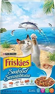 Purina Friskies Dry Cat Food, Seafood Sensations - (4) 3.15 lb. Bags
