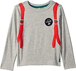 Applique Jersey Long Sleeve Tee (Toddler/Little Kids)