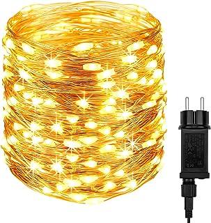 DeepDream Guirlande Lumineuse avec Prise, 20m 200 LED Fil Cuivre 8 Modes intérieure et extérieure Étanche Guirlande pour C...
