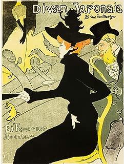 Wee Blue Coo Prints Advert Theatre Concert Cafe Divan JAPONAIS Lautrec France Poster 30X40 cm 12X16 in Print