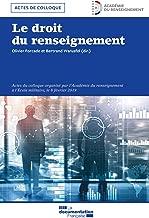 Le droit du Renseignement (SANS COLL - DOC) (French Edition)