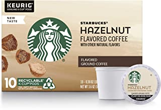 Starbucks Flavored K-Cup Coffee Pods — Hazelnut for Keurig Brewers — 1 box (10 pods)