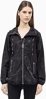 Calvin Klein Women's Monogram Print Hooded Jacket