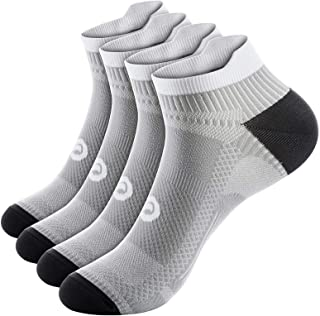 Ankle Compression Sock for Men and Women 2/4/6 Pairs, Low Cut Compression Running Sock..