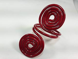 Ronds de serviette,rouge.Modele Asteroid