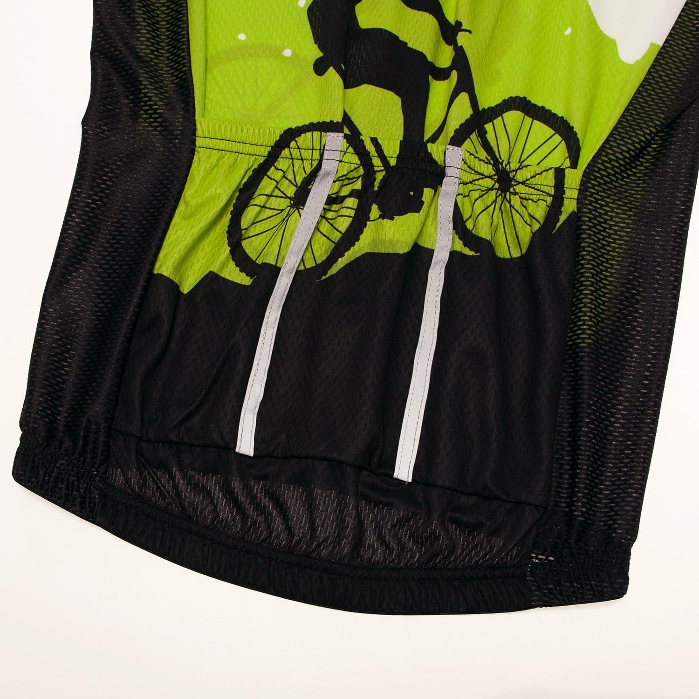 Cycling Jersey Men Sleeveless Bike Shirts Vest Bicycle Clothing Jacket Tight Reflective at Night