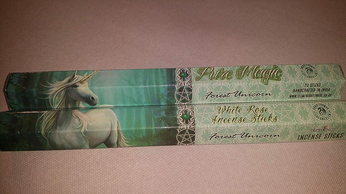 領事館感嘆符受け入れPack Of 6 Forest Unicorn Incense Sticks By Anne Stokes