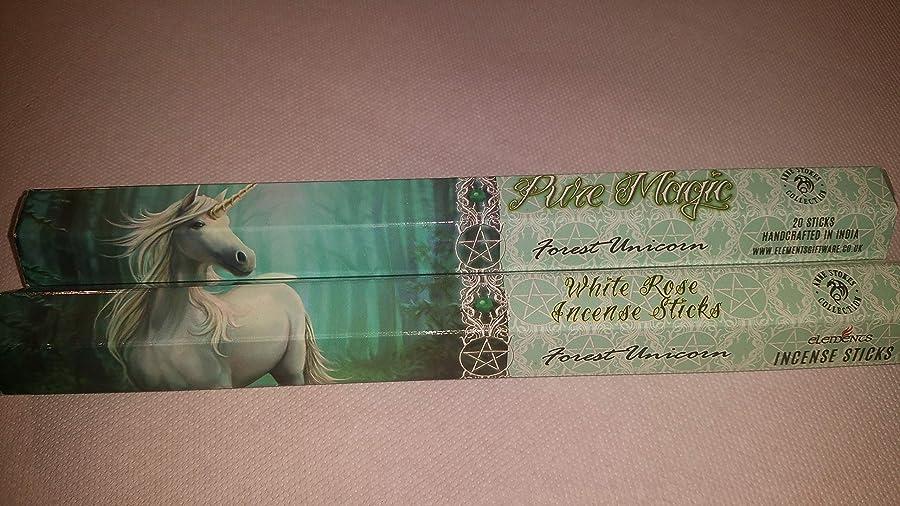 素敵なファックス見るPack Of 6 Forest Unicorn Incense Sticks By Anne Stokes