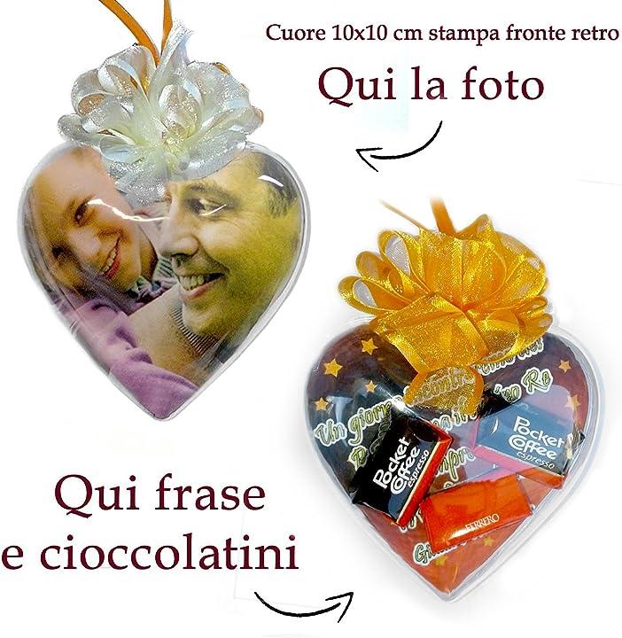 Cioccolatini personalizzati a forma di cuore - pieffeline B01BNVA0HC