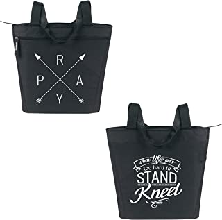 Large Inspirational Zippered Tote Bags with Pockets for Women - Perfect for Work, Gifts, Church, Travel