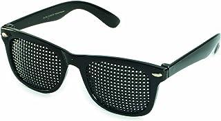 VANLO - Gafas estenopeicas 415-SSP - cuadrada Rejilla - negro - Incl. Accesorio