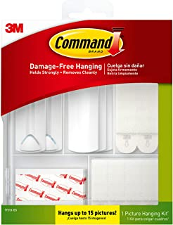 Command 17213-ES Picture Hanging Kit White 38 Piece Kit