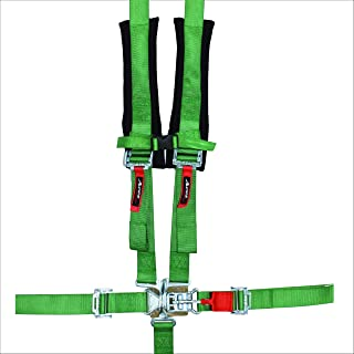 Aces Racing 5 Point Harness with 2 Inch Padding E4 Certified (Green)