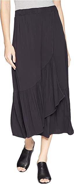 Rylie Rayon Wrapped Midi Skirt