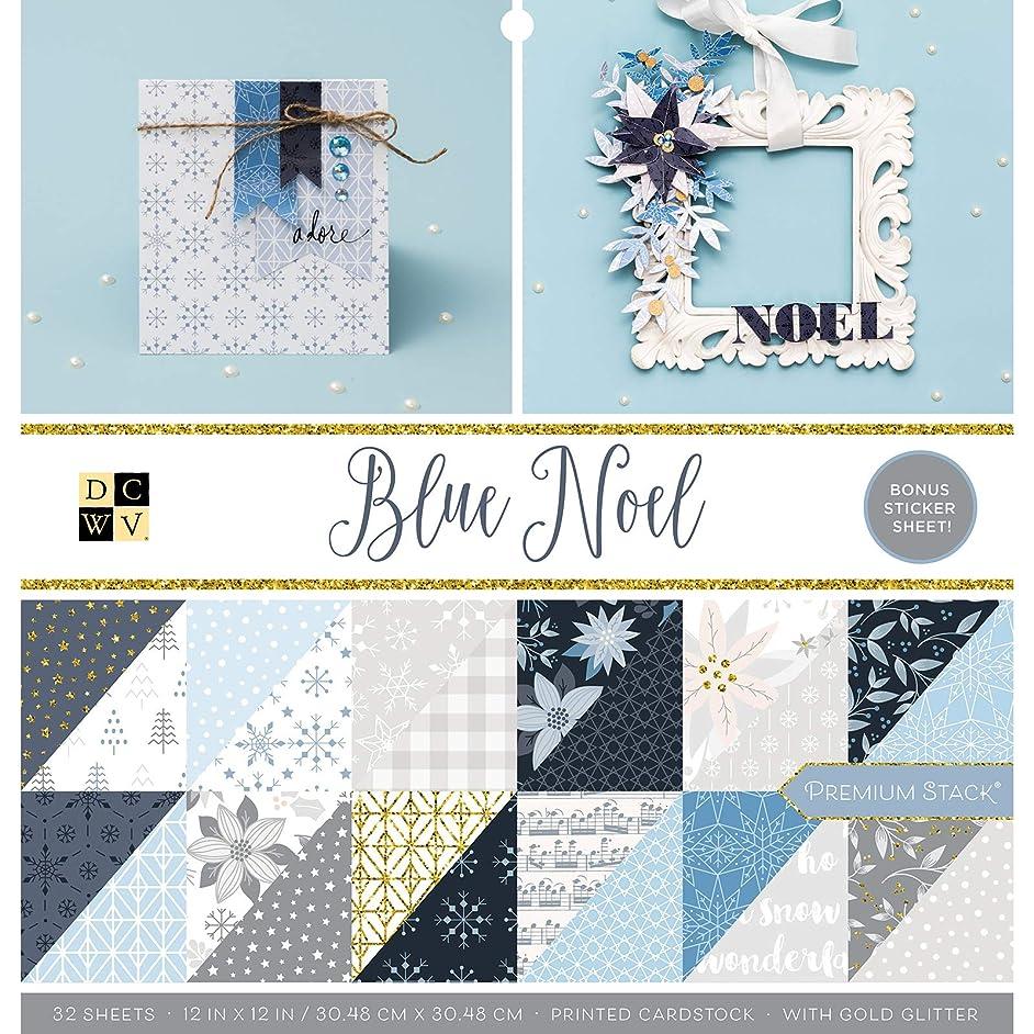 DCWV 614658 Blue Noel Paper, Multicolor