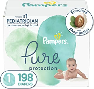 Sponsored Ad - Diapers Size 1, 198 Count - Pampers Pure Protection Disposable Baby Diapers, Hypoallergenic and Unscented P...
