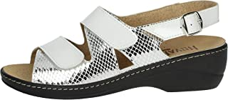 Novaflex Sandalo Donna Bianco/argento Fiona