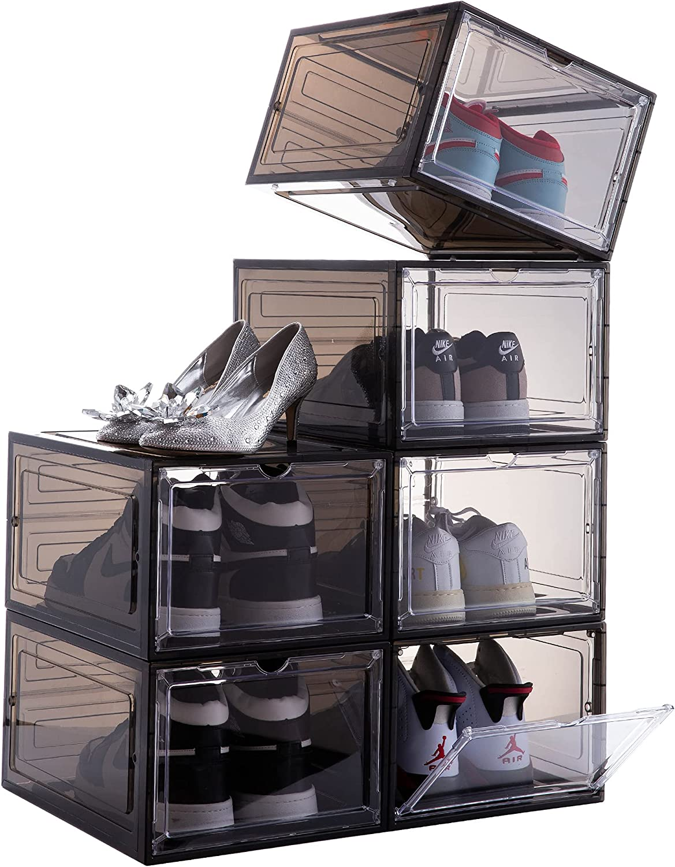 Attelite Drop Front Shoe Box Set online shop Plastic Stackable Dealing full price reduction of 6