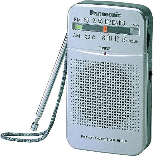 Panasonic Panasonic RF-P50DGC-S FM Portable Pocket Speaker Radio, Silver, (RF-P50DGC-S) (RF-P50D)