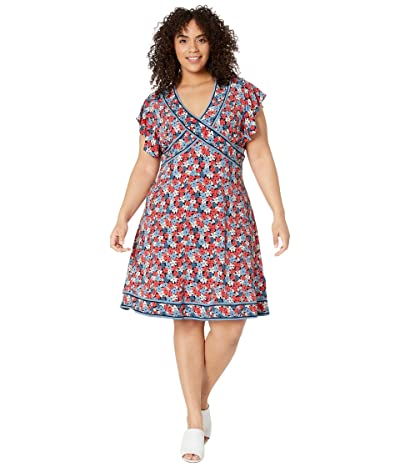 MICHAEL Michael Kors Plus Size Hothouse Mini Dress (Coral Peach) Women