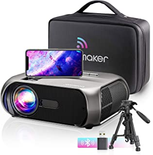 "Bomaker Proyector WiFi, 1080P Nativo Full HD 6500 Lúmenes Proyector Portátil, 300"" Duplicar Pantalla 720p Nativo Mini Proy..."