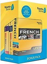 Rosetta Stone Learn French Bonus Pack Bundle| Lifetime Online Access + Grammar Guide + Dictionary Book Set| PC/Mac Keycard