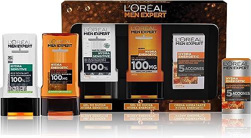L'Oréal Men Expert Pack de Ducha Antifatiga para Hombre, Incluye Gel de Ducha Calmante Hydra Energetic, Gel de Ducha ...