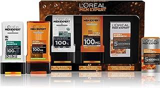 L'Oréal Men Expert Pack de Ducha Antifatiga para Hombre, Incluye Gel de Ducha Calmante Hydra Energetic, Gel de Ducha Tauri...