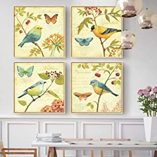 Pintura de lienzo Retro arte clásico planta flor imagen impresa cartel usado para vivir dormitorio fondo pintura de pared ...