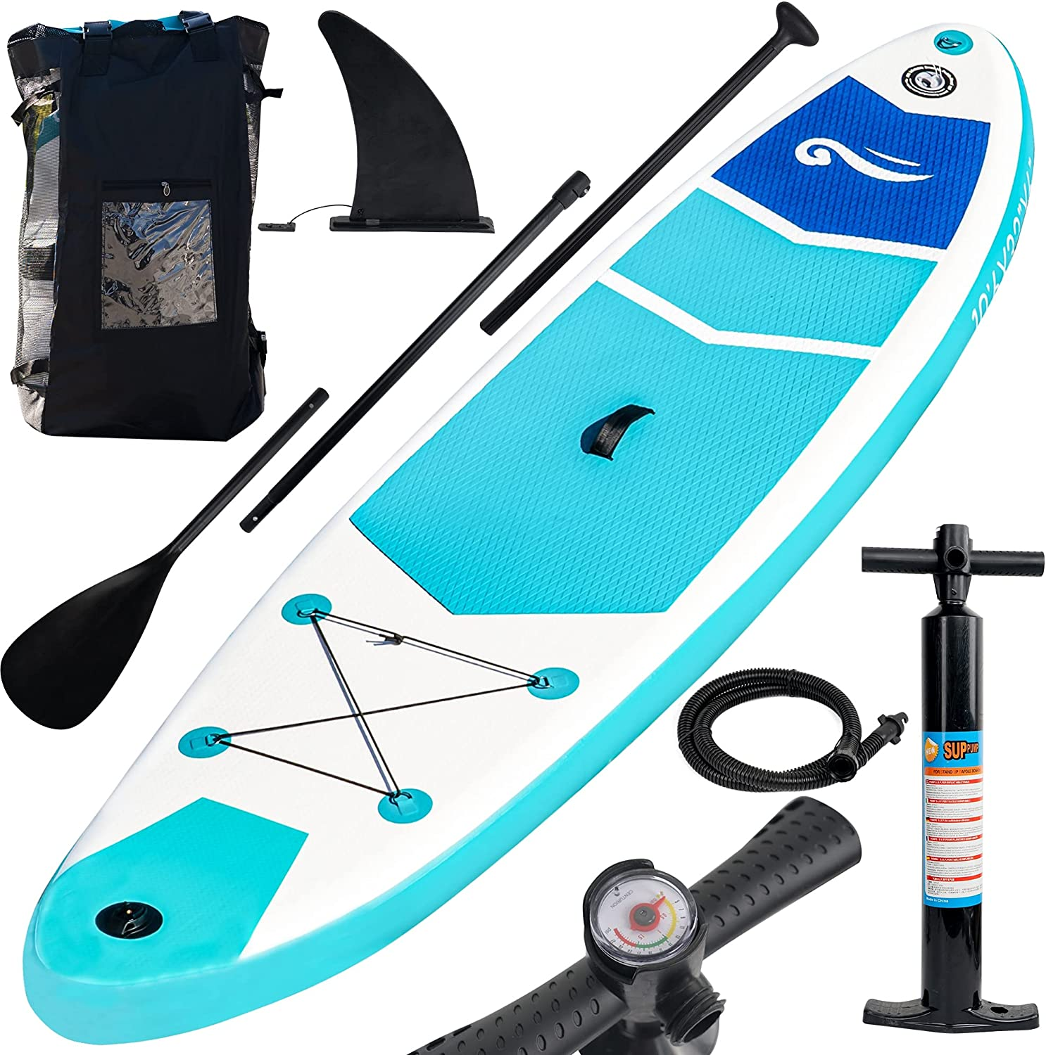 FUNPENY Max 82% OFF Inflatable Stand Los Angeles Mall Up Paddle Boards Non-Sl 32