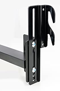 Duck Valley Imports Bed Frame Conversion Brackets (2-Pack) Adjustable Bolt-On to Hook-On | Twin, Full, King, Queen | Fit Headboard, Footboards | Heavy-Duty Metal w/Hardware