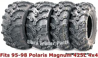 Full Set Super Lug Mud ATV tires 25x8-12 & 25x11-10 fit for 95-98 Polaris Magnum 425L 4x4