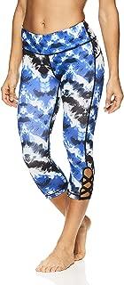 Nicole Miller Active Women's Persephone Printed Capri Leggings - Performance Activewear Workout Pants