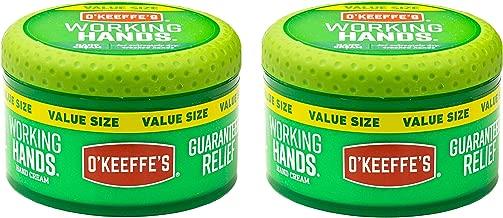 O'Keeffe's K0680001-2 Working Hands Hand Cream in Jar (2 Pack), 6.8 oz