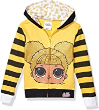 L.O.L. Surprise! Girls' The Glitterati Crystal Queen Big Face Zip-up Hoodie