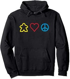 Best Family Board Game Meeple Love Peace Hoodie