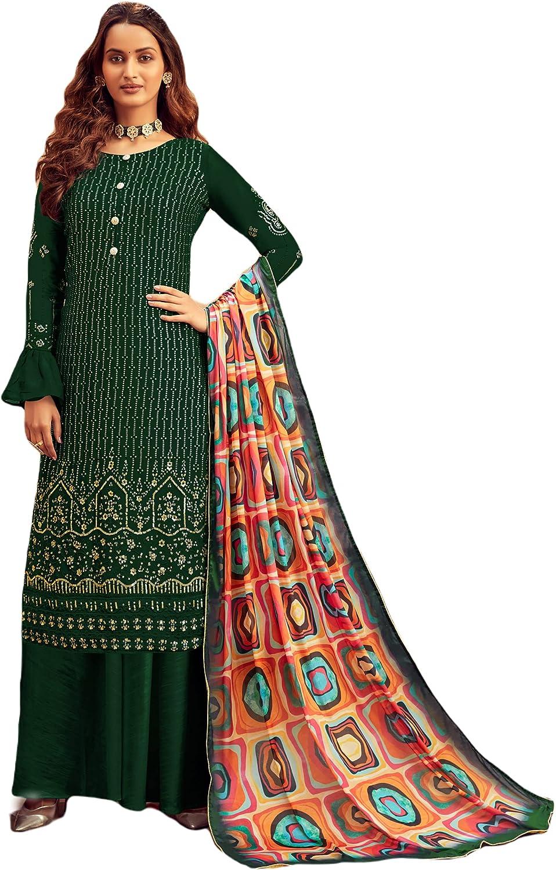 Shreyanvi Palazzo Suit for Indian Pakistani Ethnic Women Embroidered Dress Salwar Kameez Suit