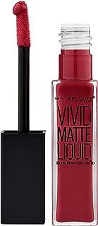 Maybelline New York Color Sensational Vivid Matte Liquid Lipstick, Red Punch, 0.26 fl. oz.